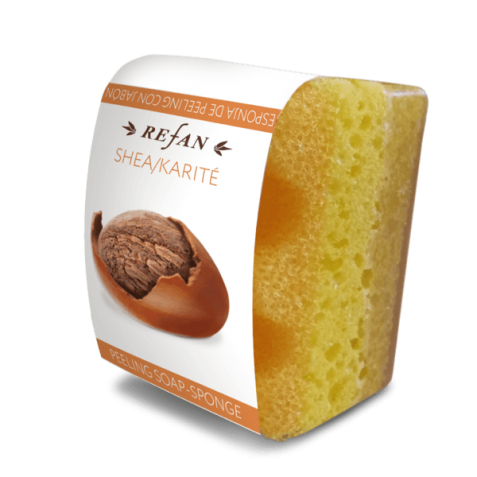 Burete exfoliant cu sapun SHEA/KARITE , 75 gr.