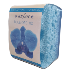 Burete exfoliant cu sapun BLUE ORCHID , 75 gr.