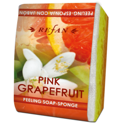 "Burete exfoliant cu sapun ""Pink Grapefruit"""