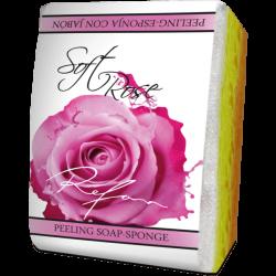 "Burete exfoliant cu sapun ""Soft rose"" - 75 gr"
