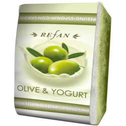 "Burete exfoliant cu sapun "" Olive and Yogurt """