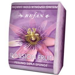 "Burete exfoliant cu sapun ""Passion Fruit"""