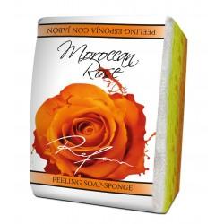 Burete exfoliant cu sapun MAROCCAN ROSE Refan
