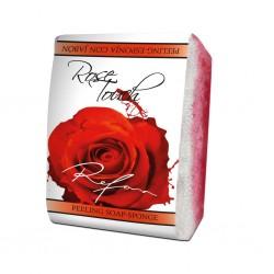 Burete exfoliant cu sapun ROSE TOUCH Refan