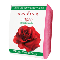 Burete exfoliant cu sapun Refan A Rose of Bulgaria