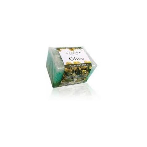 Burete exfoliant cu sapun Refan OLIVE