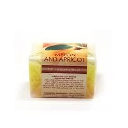 Burete exfoliant cu sapun MELON and APPRICOT Refan